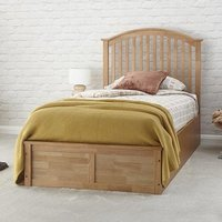 Madrid Ottoman Wooden Single Bed In Natural Oak