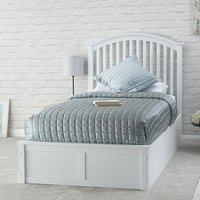 Madrid Ottoman Wooden Single Bed In White