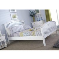 Madrid Rubberwood Double Bed In White