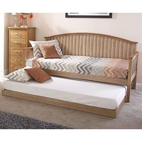 Madrid Wooden Single Day Bed With Guest Bed In Natural Oak