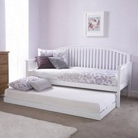 Madrid Wooden Single Day Bed With Guest Bed In White