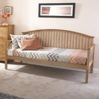 Madrid Wooden Single Day Bed In Natural Oak