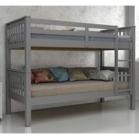 Product photograph showing Magnus Wooden Bunk Bed In Grey