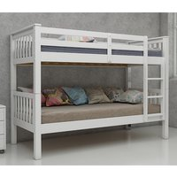Product photograph showing Magnus Wooden Bunk Bed In White