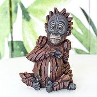 Product photograph showing Maia Edge Baby Orangutan Sculpture