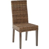 Helvetios Kubu Rattan Dining Chair In Natural