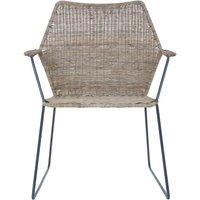 Hunor Natural Rattan Angled Design Chair