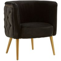 Product photograph showing Intercrus Fabric Tub Chair In Black