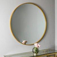 Manhattan Medium Round Wall Bedroom Mirror In Gold Frame