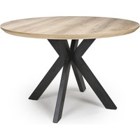 Product photograph showing Manhattan Round Dining Table In Oak