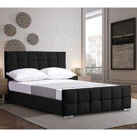 Manitou Plush Velvet Single Bed In Black