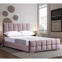 Manitou Plush Velvet Single Bed In Pink