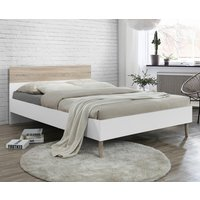 Mapleton Wooden Single Bed Oak And White