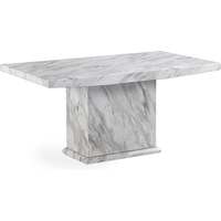 Hessler Marble Effect Dining Table In High Gloss