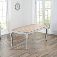 Product photograph showing Marco Wooden Dining Table Rectangular In Acacia And Grey