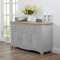 Product photograph showing Marco Wooden Sideboard In Acacia And Grey With 3 Doors