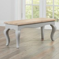 Product photograph showing Marco Wooden Dining Bench In In Acacia And Grey