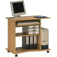 image-Marconie Wooden Computer Desk Trolley In Beech Finish