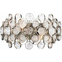 Marella Crystal Glass Wall Light With Silver Base
