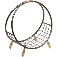 image-Mariella Contemporary Magazine Rack In Black And Gold