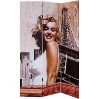 Product photograph showing Marilyn Monroe Double Sided Room Divider