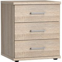 Marino Wooden Bedside Cabinet In Oak Effect With 3 Drawers