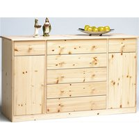 Mario Wooden Sideboard In Natural With 2 Doors 7 Drawers