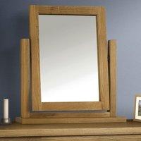 Marlborough Dressing Table Mirror With Waxed Oak Frame
