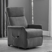 Product photograph showing Marlow Rise And Recline Chair In Charcoal Grey Velvet