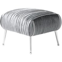 Product photograph showing Marlox Modern Stool Charcoal Velvet With Chrome Legs
