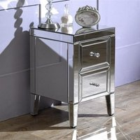 Marnie Mirrored Bedside Cabinet With 2 Drawers