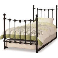 Marseille Metal Single Bed With Guest Bed In Black
