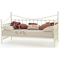 Marseille Metal Single Day Bed Ivory Gloss