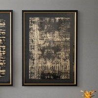 Product photograph showing Mattis Fine Print Framed Wall Art In Black Satin
