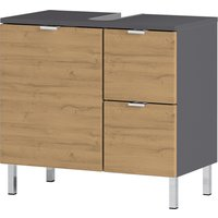 Mauresa Basin Vanity Unit In Graphite And Grandson Oak