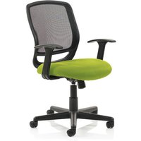 Mave Task Black Back Office Chair With Myrrh Green Seat