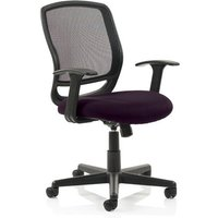 Product photograph showing Mave Task Black Back Office Chair With Tansy Purple Seat