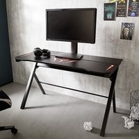 McRacing LED Wooden Computer Desk With In Black