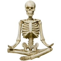 Product photograph showing Meditating Model Skeleton Sculpture