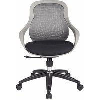 Product photograph showing Melvina Fabric Office Chair In Grey