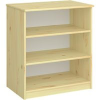 Product photograph showing Memphis Kids Wooden Bookcase In Natural With 2 Shelves