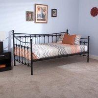 Memphis Steel Single Day Bed In Black