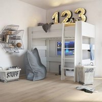 Product photograph showing Memphis Wooden High Sleeper Childern Bed In White