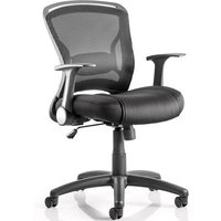 Mendes Contemporary Office Chair In Black With Castors