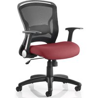 Mendes Contemporary Office Chair In Chilli With Castors