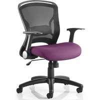 Mendes Contemporary Office Chair In Purple With Castors