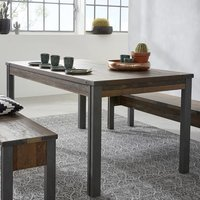 Merano Wooden Dining Table In Old Wood With Matera Grey Legs