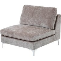 image-Meriva Modern Bedroom Chair In Grey With Gold Stainless Legs