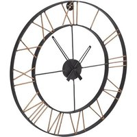 Product photograph showing Merope Large Metal Lincoln Wall Clock