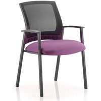 Product photograph showing Metro Black Back Office Visitor Chair With Tansy Purple Seat